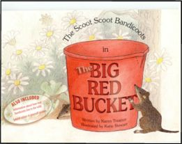 children's bandicoot book - The Big Red Bucket